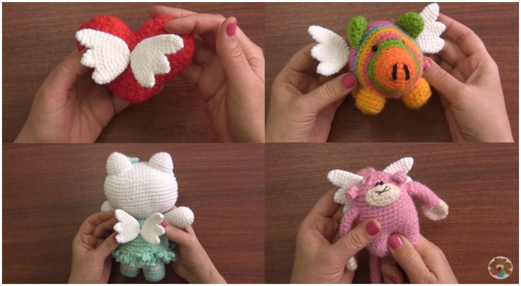 Amigurumi Doll Gratuit : Crochet amigurumi dolls with wings free pattern [video] crochet