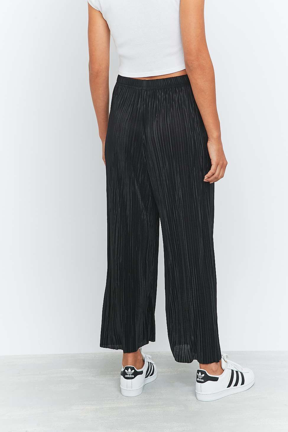 863735ada0 Light Before Dark Pleated Black Wide-Leg Trousers | Pants | Black ...