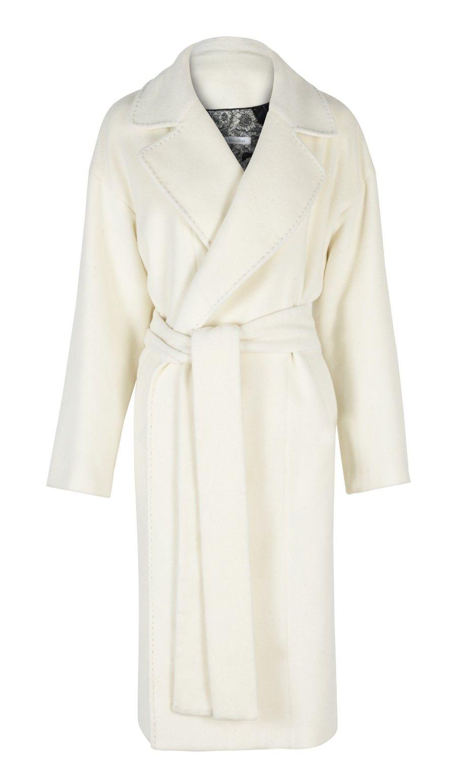 Winter White Cashmere Coat | Down Coat