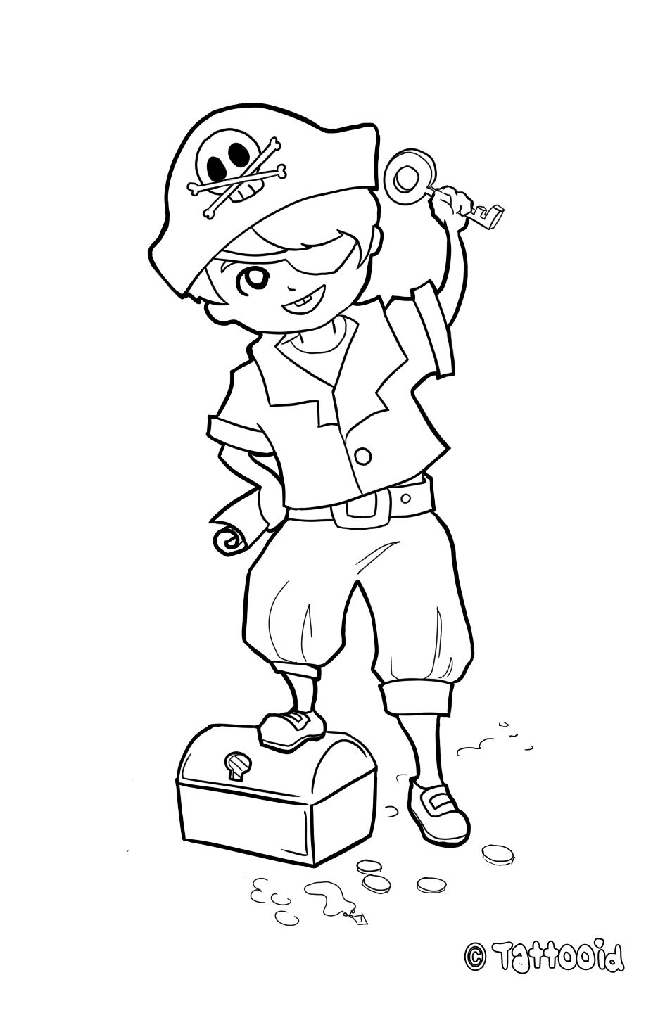 32 Awesome pirate face coloring page images