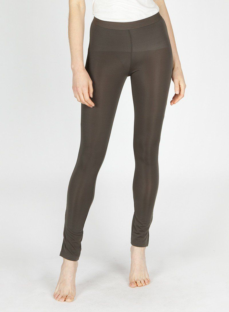 2c59622edcfa4 Classic legging made with a soft and slightly shimmery fabric along with a side  slit and elastic waistband. Gentle/Cold Wash