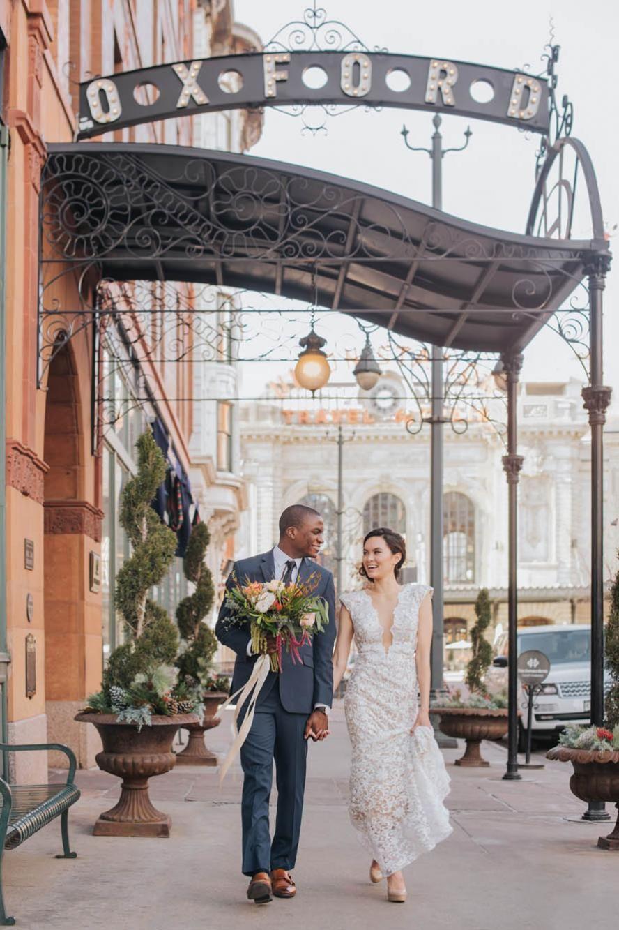 e4266ac2e23 Oxford hotel wedding union station DENVER couple