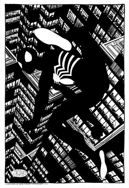 Reimagined Spectacular Spider-Man #101 cover commission by John Byrne. 2009.