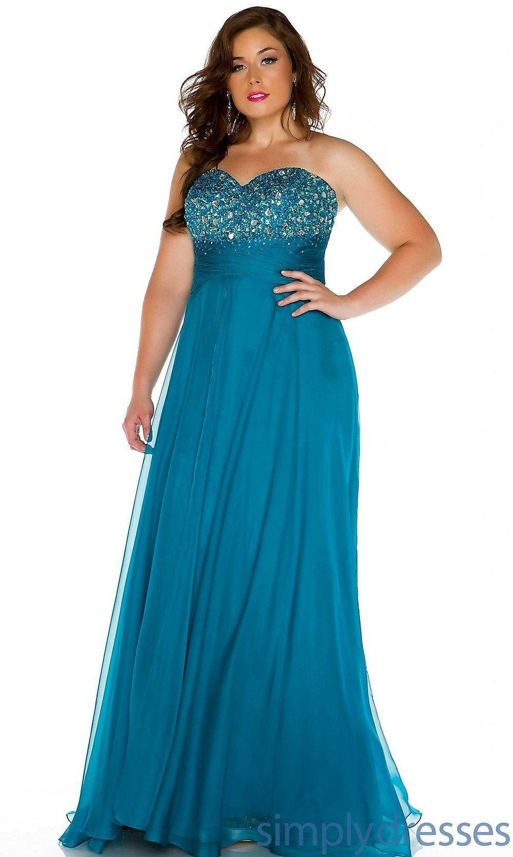 Plus Size Strapless Sweetheart Gown   # PLUS SIZE   Pinterest ...