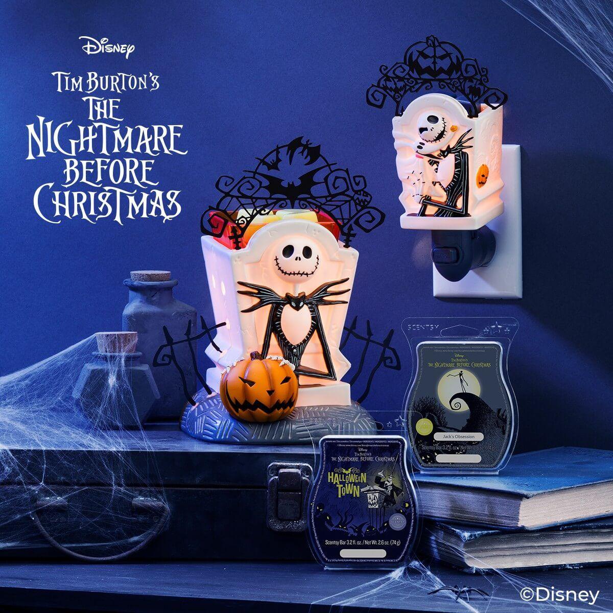 Nightmare Before Christmas 2020 Collection JACK SKELLINGTON SCENTSY WARMERS   DISNEY: NIGHTMARE BEFORE