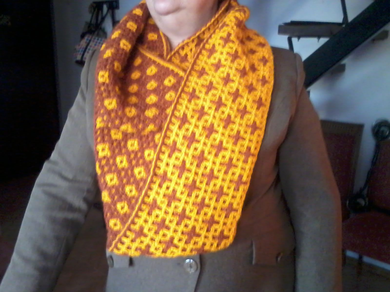 Bufanda doble Tejida a Crochet