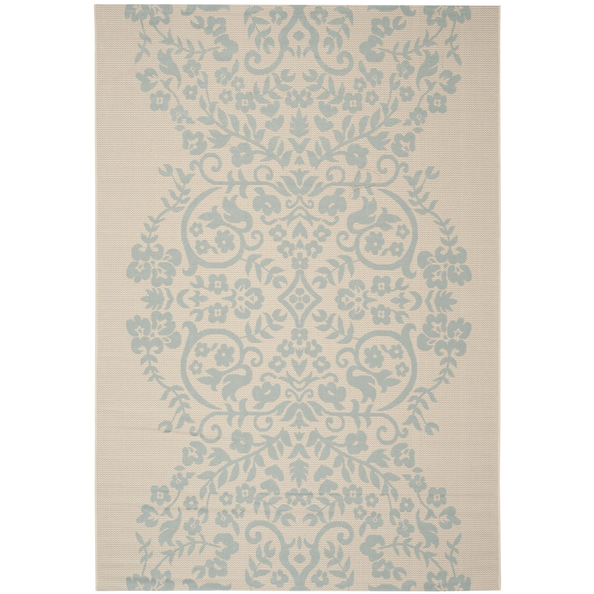 Martha Stewart by Safavieh Tapestry Rainwater / / Blue Area Rug