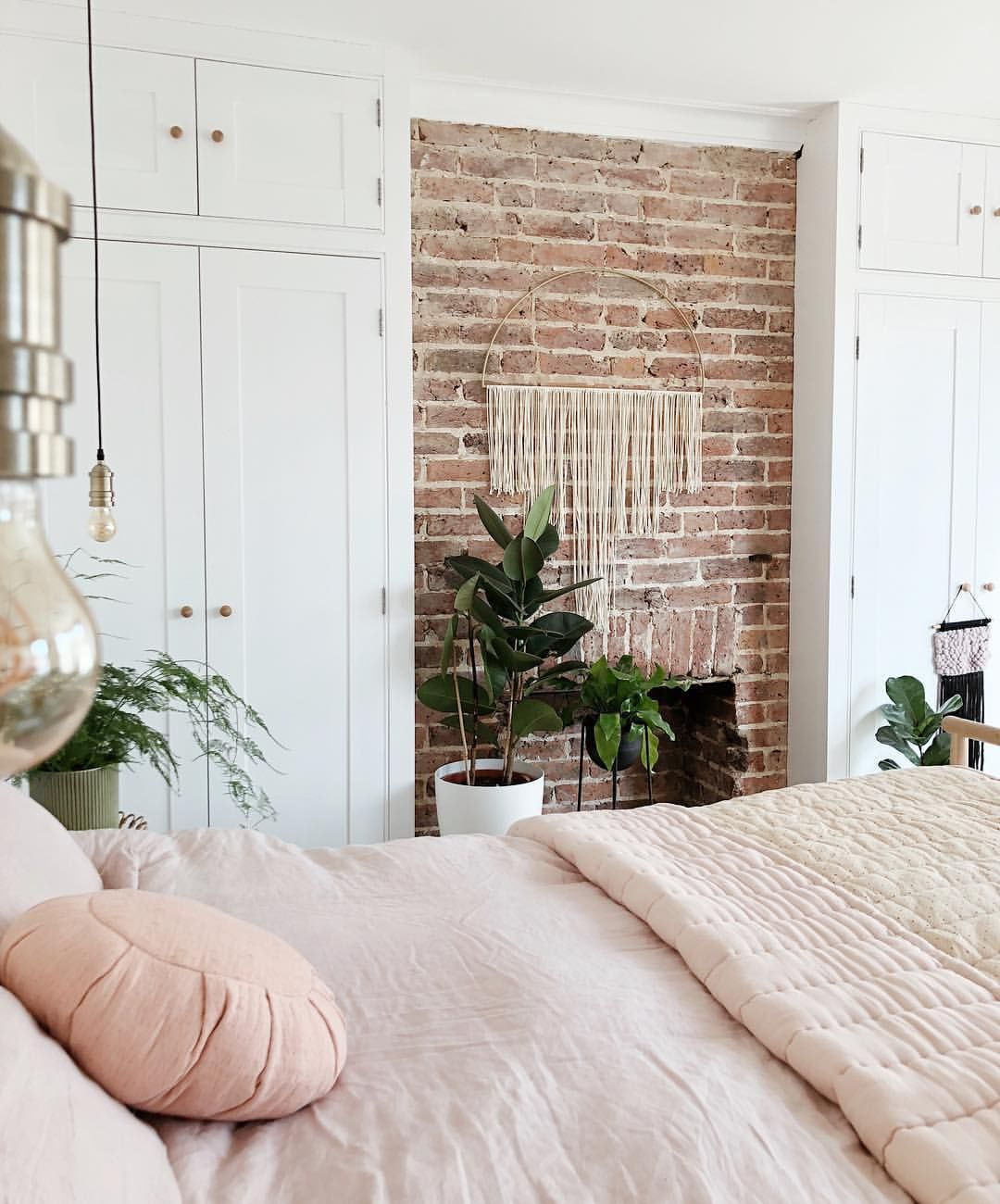 Exposed Brick Bedroom Design Sensual Bedroom Paint Colors Master Bedroom Accent Wall Bedroom Curtains Harry Corry: Kelly On Instagram: €�Still Weather Obsessed.... The