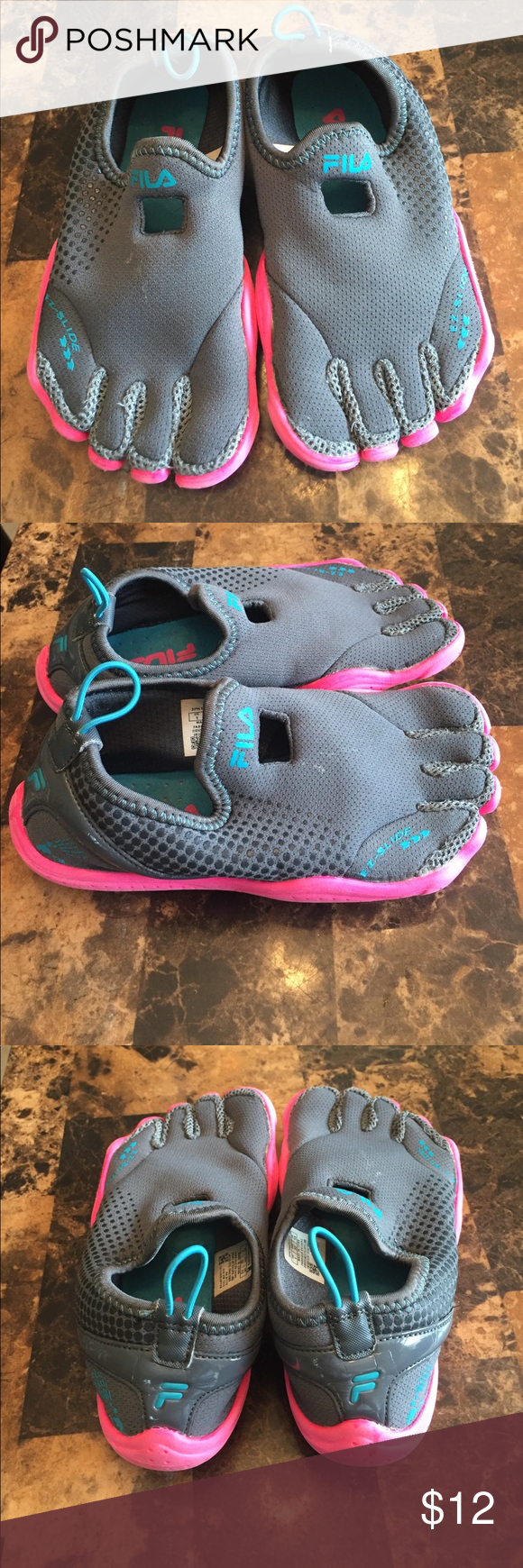 edbfba0facd7 Fila skeleton toes water shoes size 1 Small child size 1