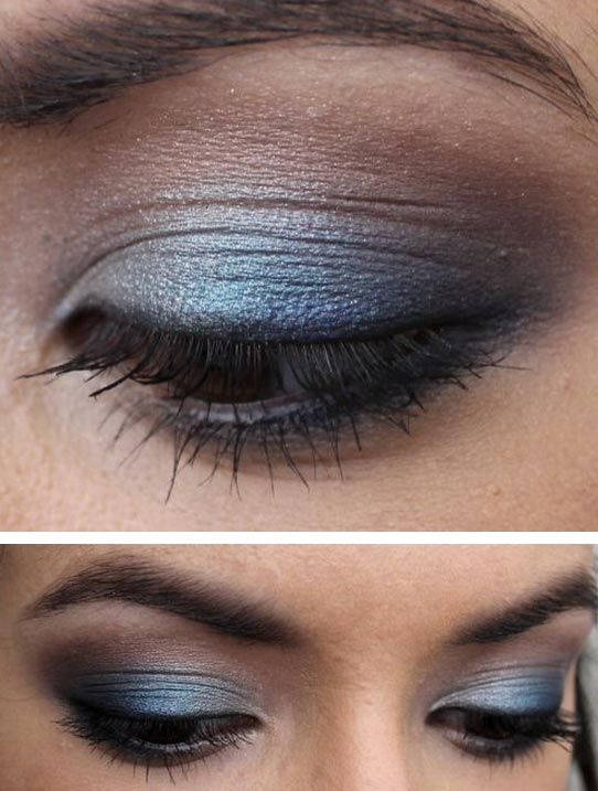 blue-eyeshadow-brown-eyes | make up ideas | Pinterest | Beautiful ...