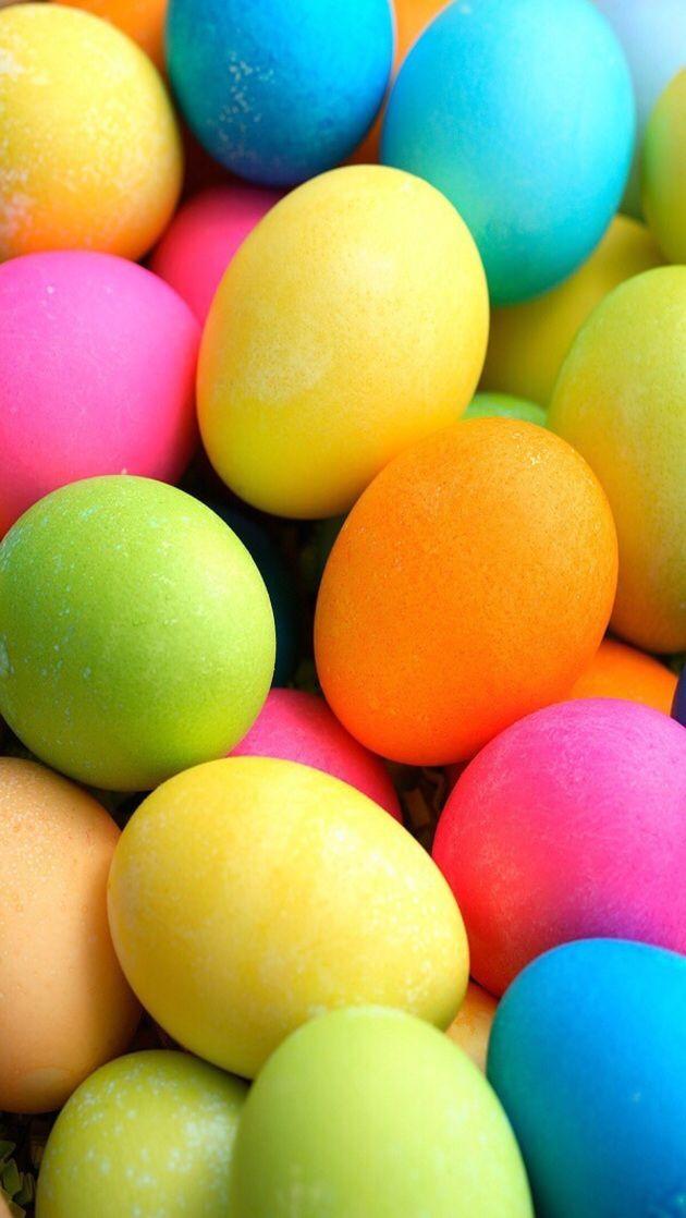 iPhone Wallpaper - Easter tjn   iPhone Walls: Easter in 2019   Coloring easter eggs, Easter egg ...