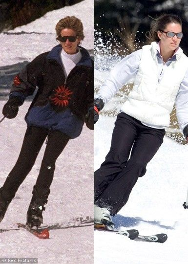 Both Diana and Kate love to ski.