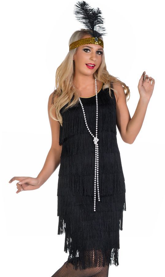 eadd0d5487e79 Miss Millie 1920's Long Black Flapper Dress Costume - Halloween Costumes |  fancy dress costumes Australia | wigs, masquerade masks | online .