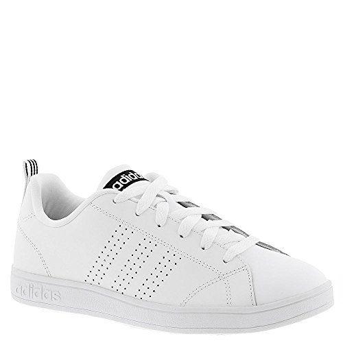 adidas NEO Women's Advantage Clean VS W Casual Sneaker,White/White/Black,