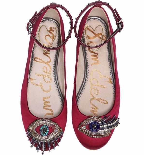 49ed54660c6f Sam Edelman Ferrera Embellished Ankle Strap Flat shoes size US 8.5 ...