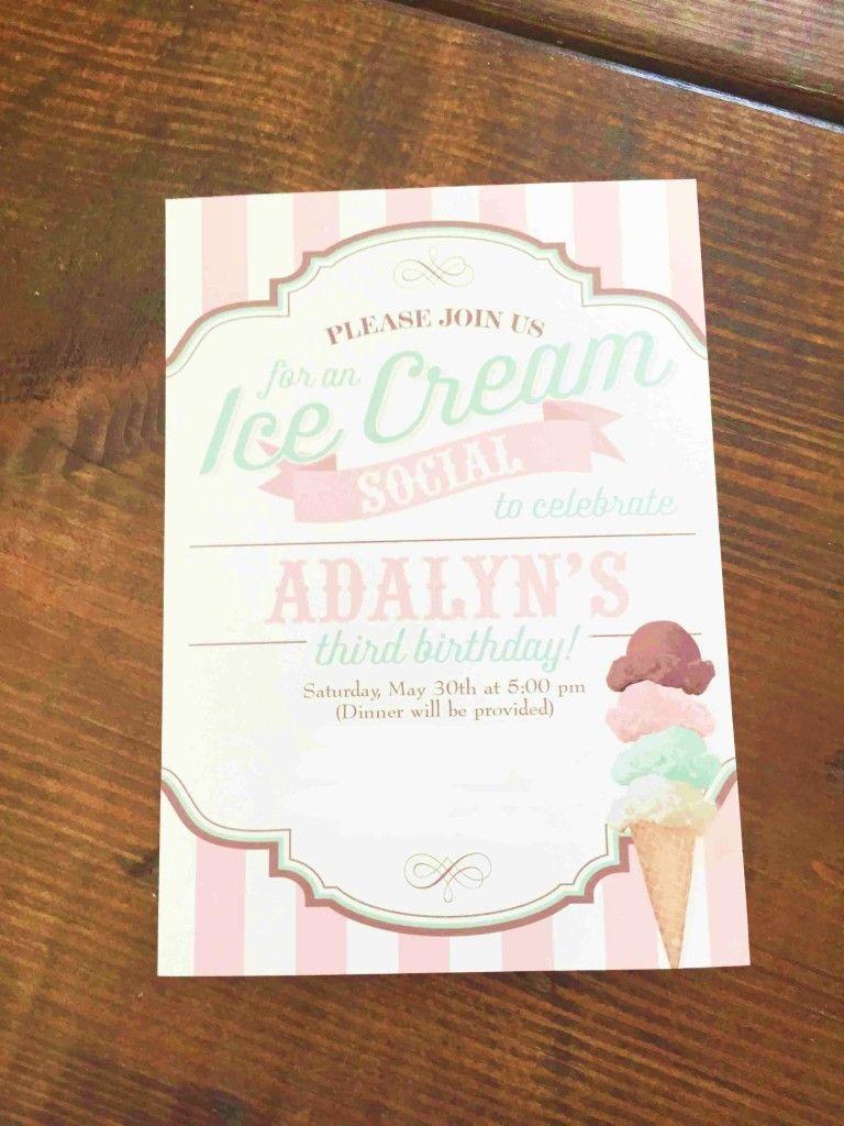 Ice Cream Social 3rd Birthday Party | Pinterest | Ice cream social ...