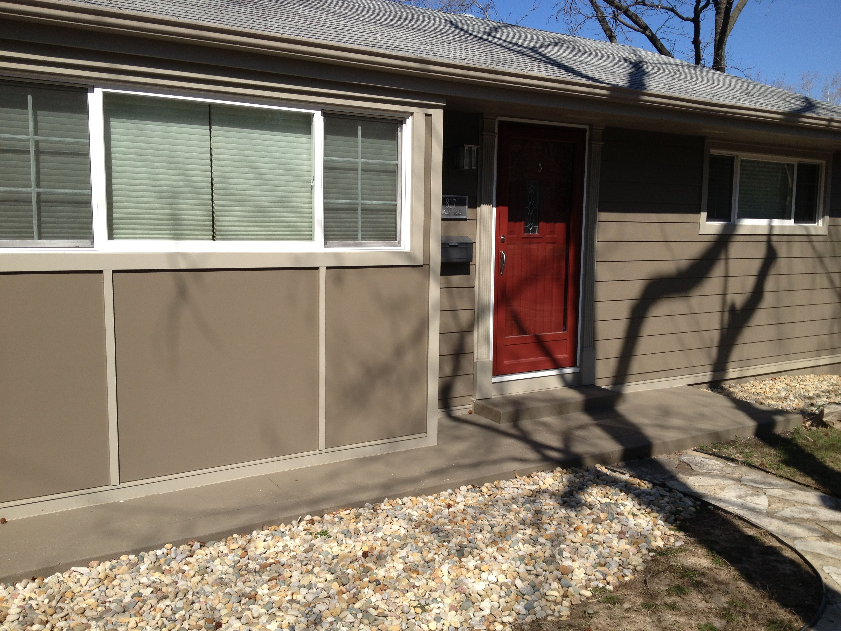 James Hardie 8 1 4 Lap Siding In Timber Bark Also Trim