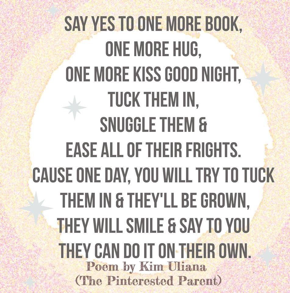 Say Yes To One More Book One More Hug One More Kiss Goodnight