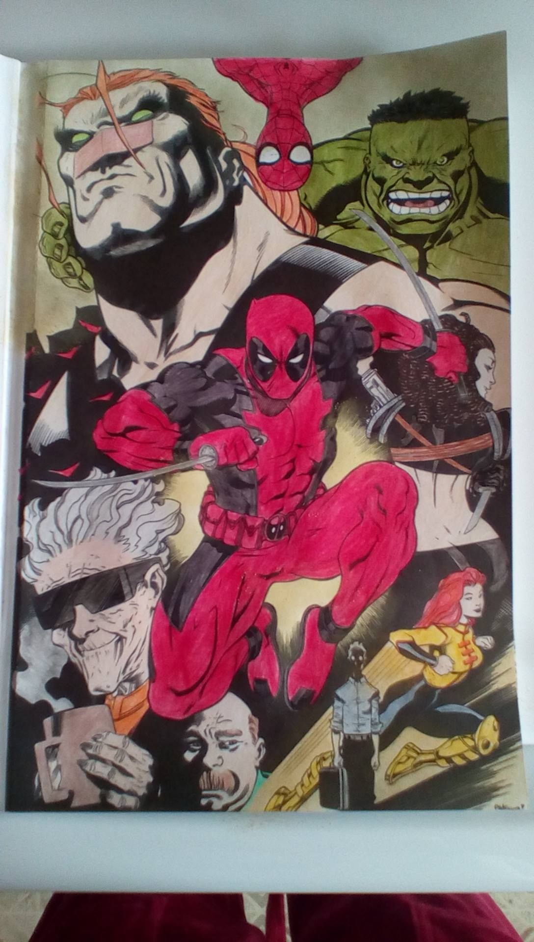 - Colored In The Deadpool Coloring Book 😊 (With Images) Coloring