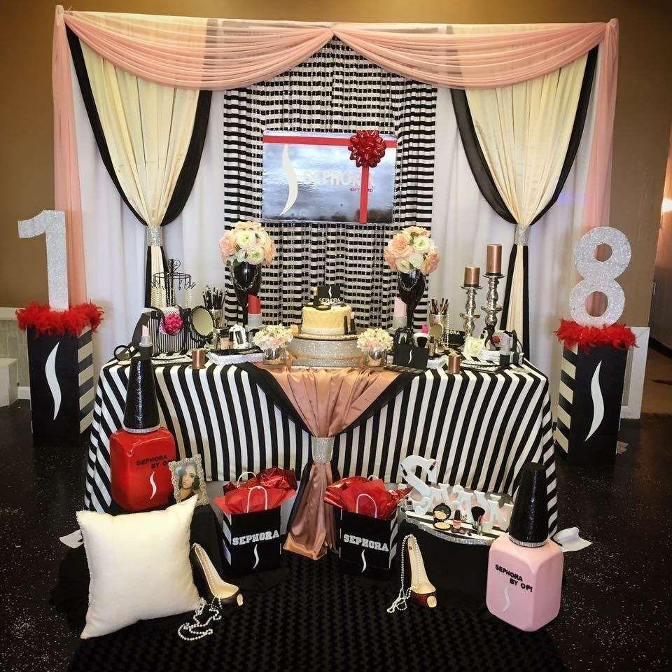 Glamorous Sephora Theme Birthday Party Ideas