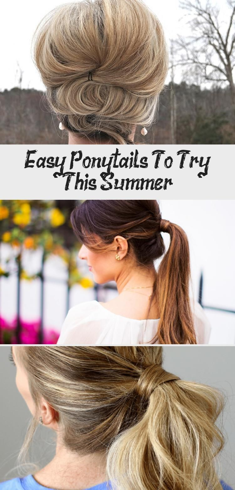 Easy Ponytails To Try This Summer Fullerponytail Super Easy To Do Prom Hairstyles You Won T Need A Stylist For Hair Styles Sleek Ponytail Hairstyles Prom Hair