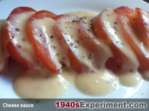 1940s cheese sauce -- made vegan