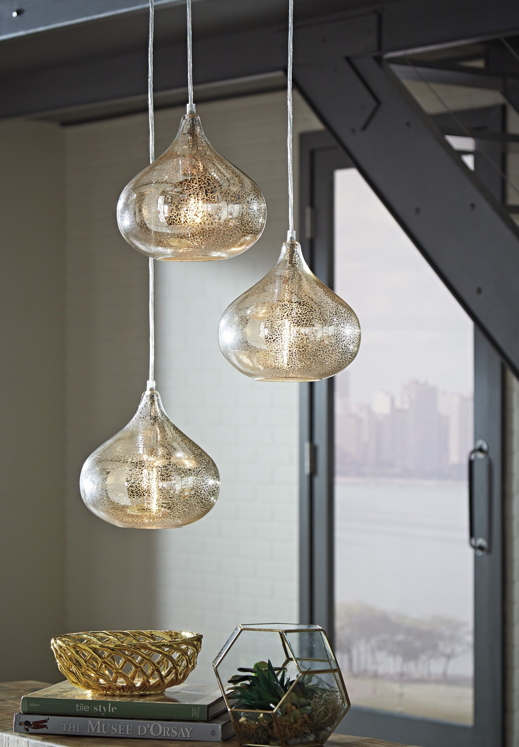 rope pendant finish ea glass mezzo copper inch length diam