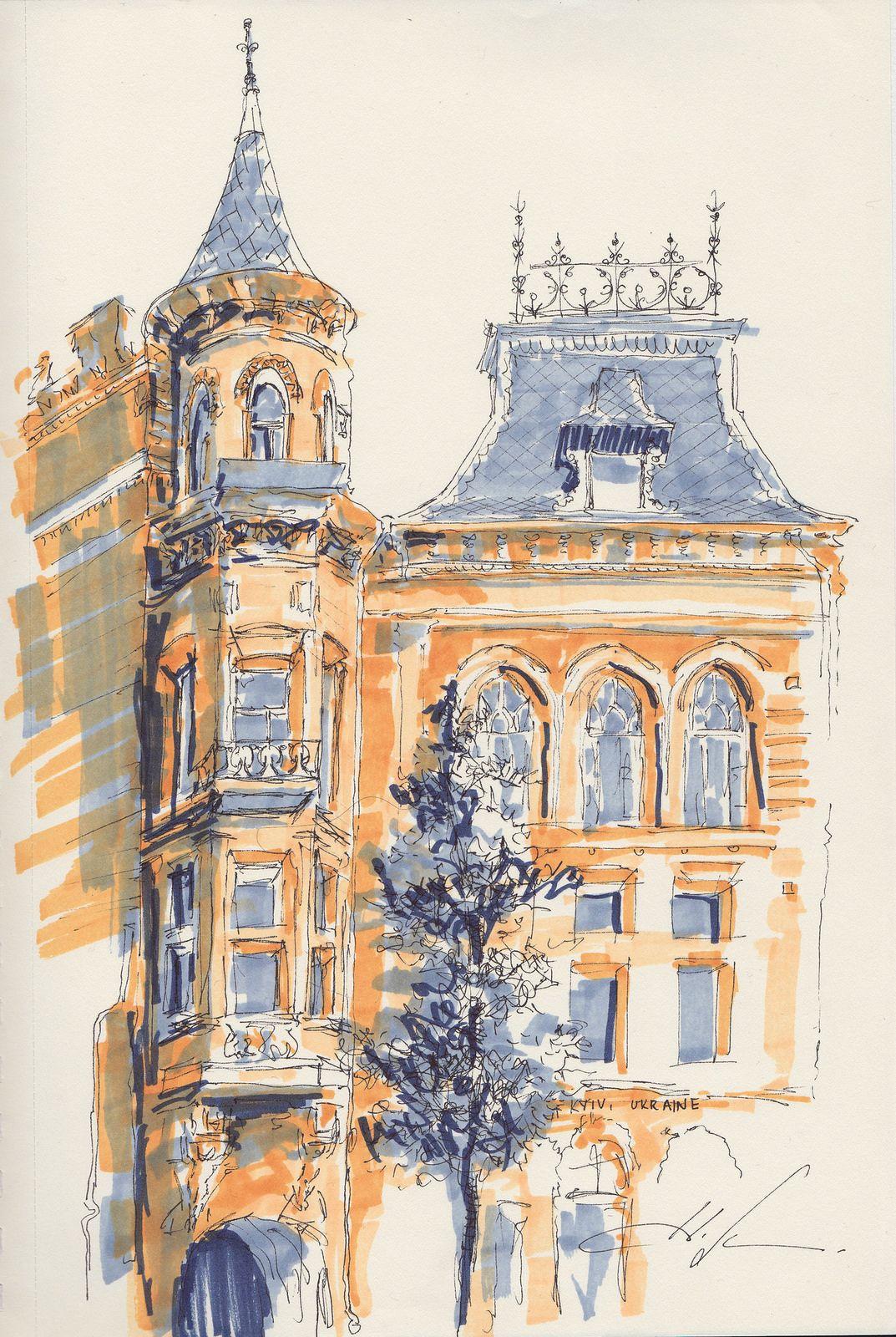 Architectural Watercolors By Maja Wronska Aquarela