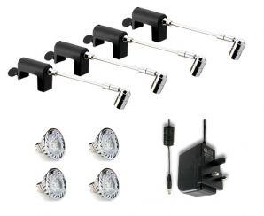 LED Exhibition Lighting Clamp Spotlight Plug U0026 Play Kits