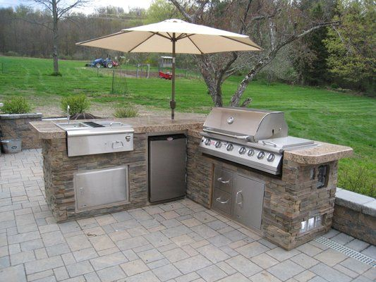 Nyc Fireplace And Outdoor Kitchen - Kitchen Design Ideas