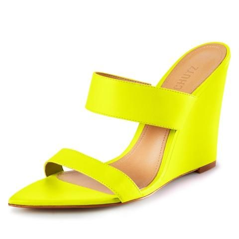95d0f43a62f5 S-Soraya Wedge Slide Sandal in Neon Yellow