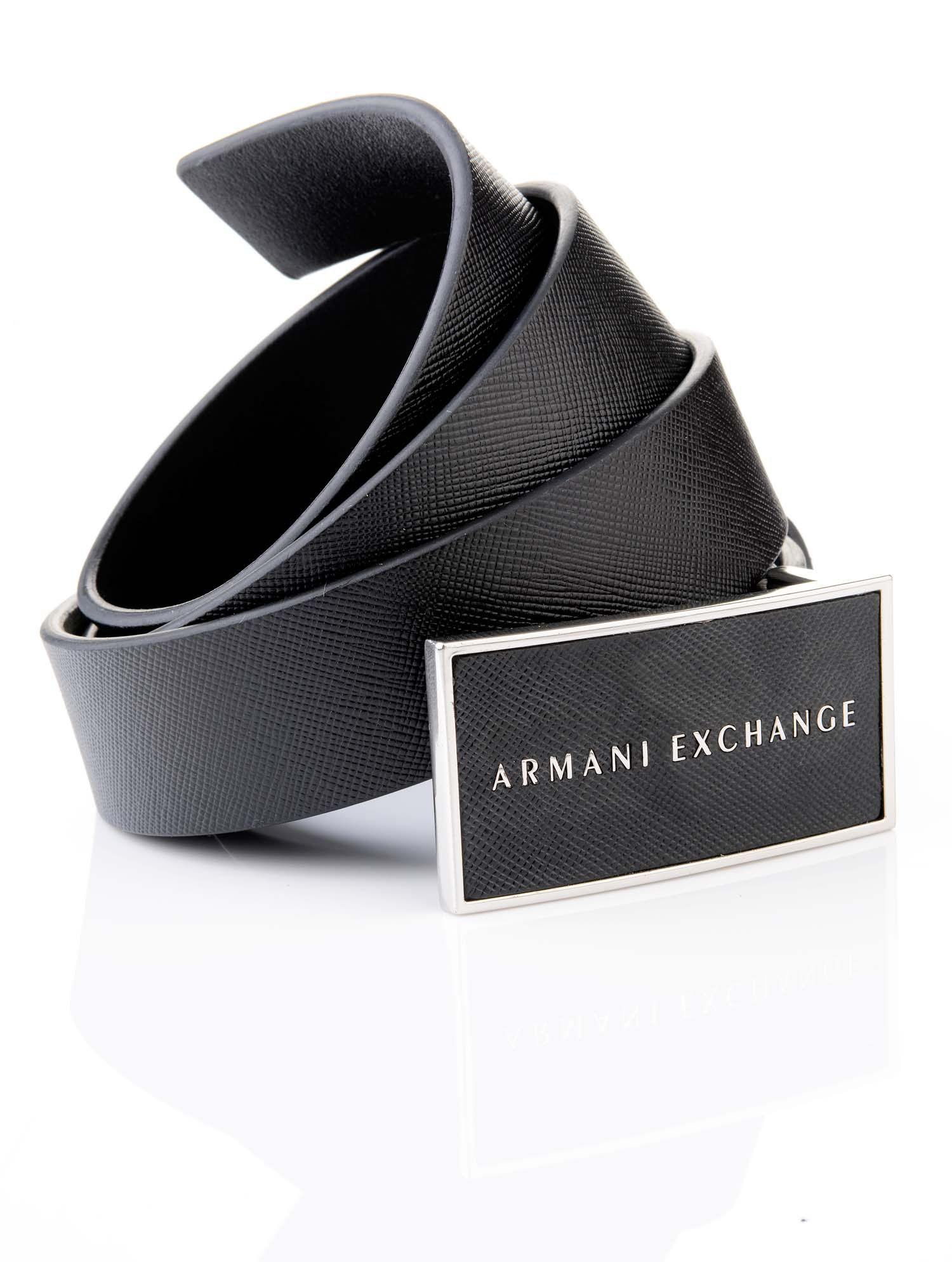 armani exchange mens black leather belt store picks