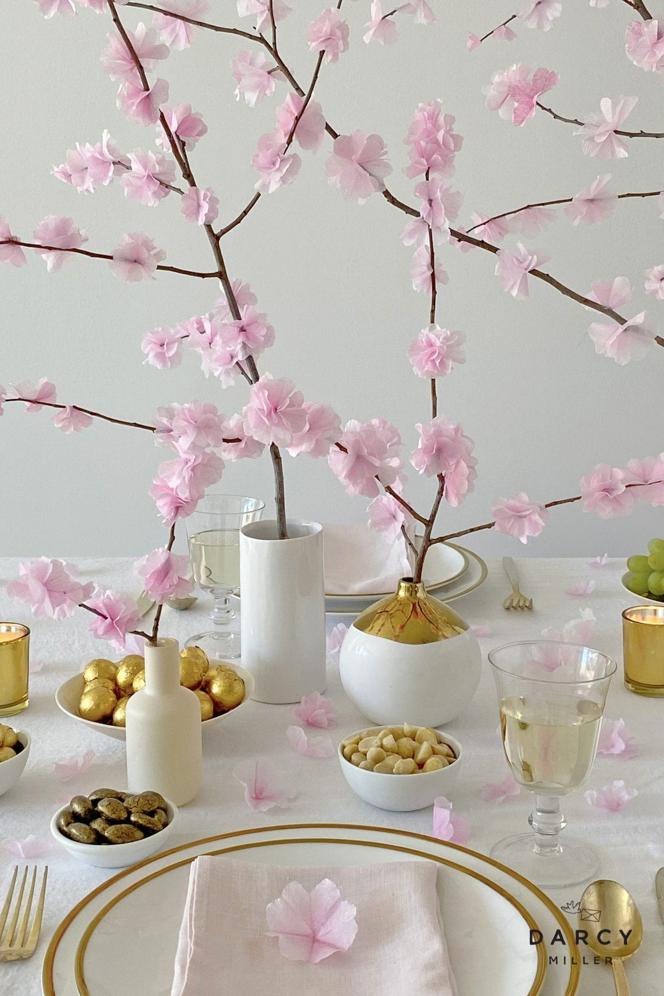 Paper Cherry Blossoms Darcy Miller Designs Cherry Blossom Cherry Blossom Festival Cherry Blossom Tree
