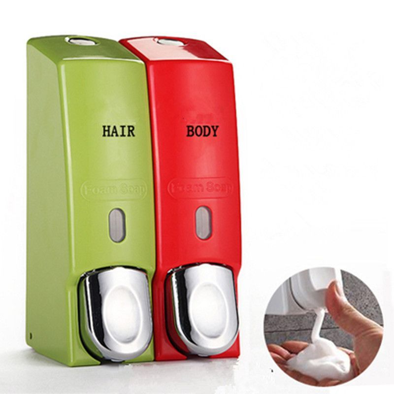 Plastic Foam Soap Dispenser Shower Gel Bottle Bathroom Hand Liquid Soap Dispenser Wall Mount Foam Foam Soap Dispenser Soap Pump Dispenser Shower Soap Dispenser