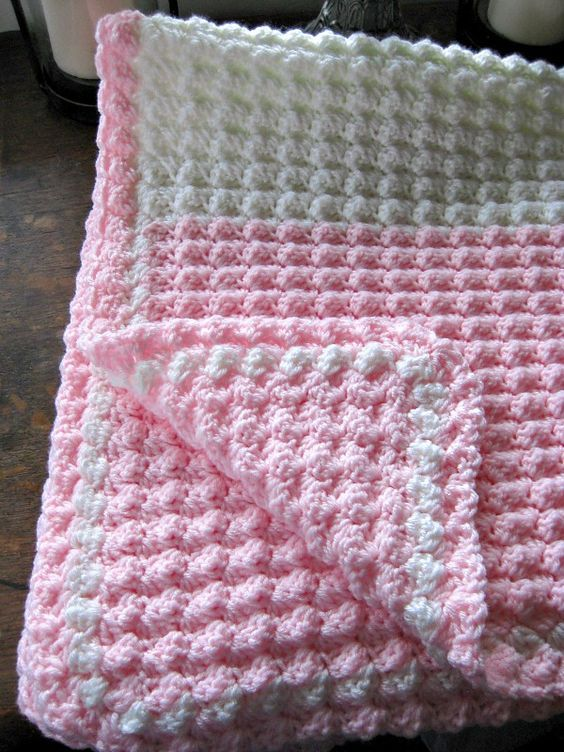 Bobble Stitch Crochet Blanket Pattern Video   Manta, Mantas de bebes ...