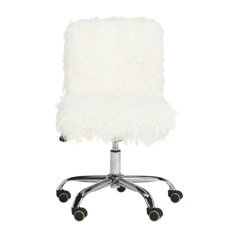 Maisonette Whitney Swivel Desk Chair White In 2020 Swivel Office Chair Black Office Chair Mesh Office Chair