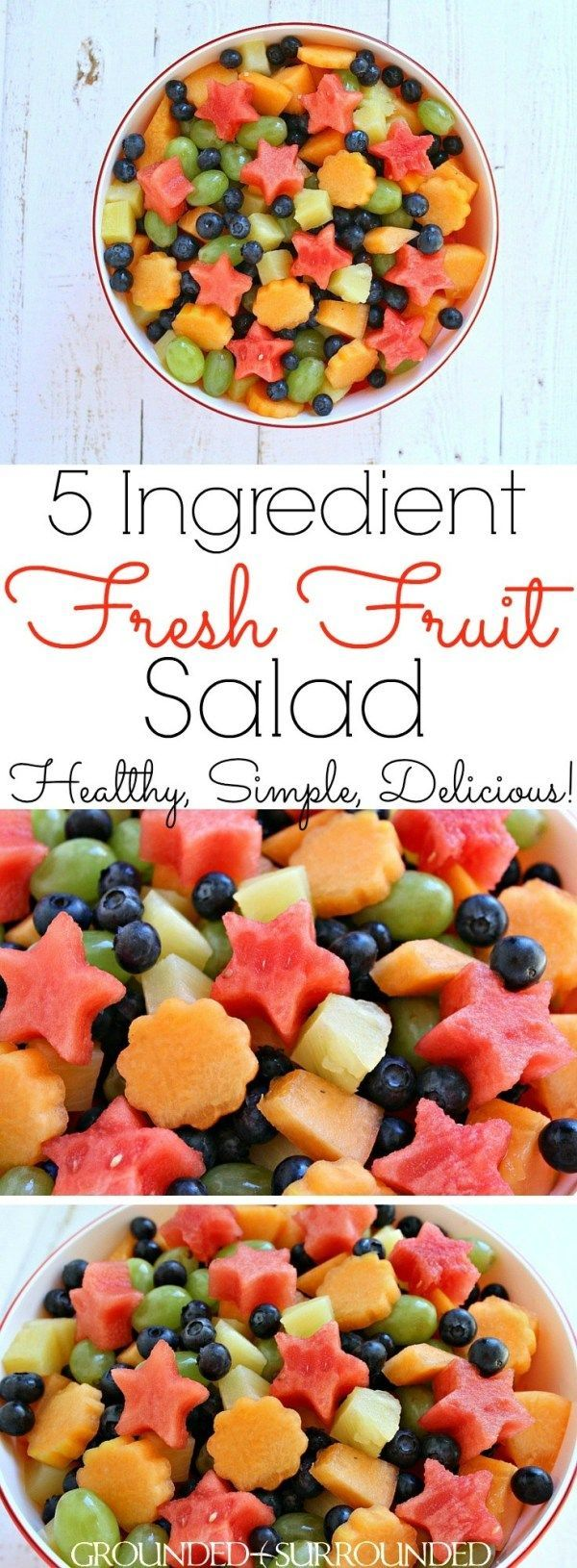 Der BESTE 5 Zutaten Frischer Obstsalat | Ob Sie sich angemeldet haben, um ...   - Fruit Salads & Di
