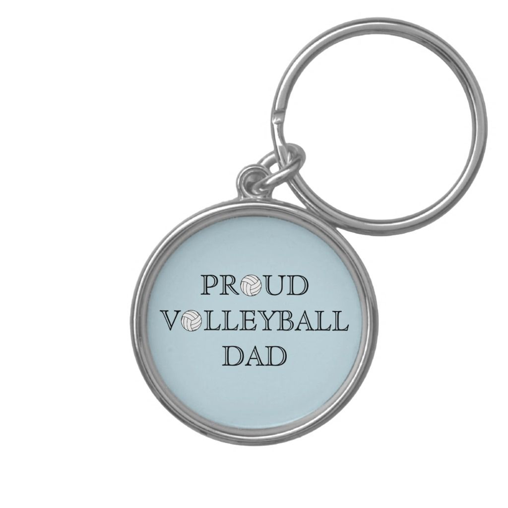 Proud Volleyball Dad Keychain Adult Unisex Size Small 1 44 Pale Blue Floral White Gifts For Dad Fathers Day Gifts Dads