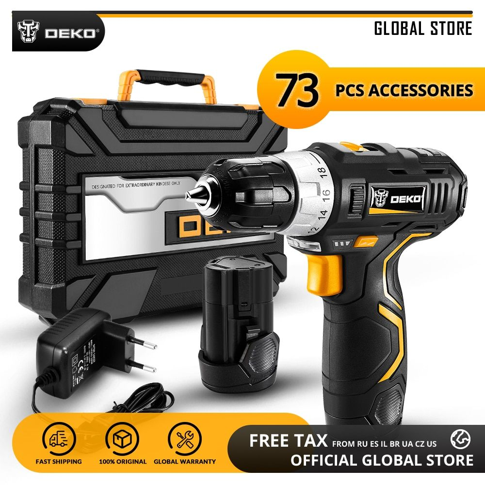 Deko Gcd12du3 12v Max Household Power Tool Electric Screwdriver With Led Light Lithium Battery Cordless Drill F In 2020 Electric Screwdriver Cordless Drill Electricity
