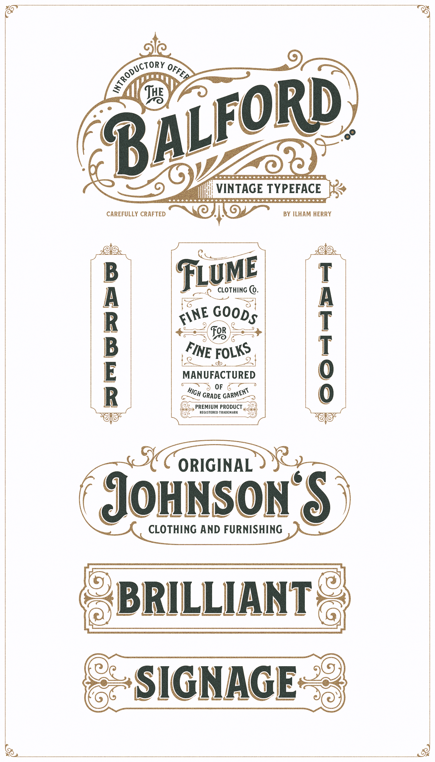 Balford Font And Ornament on Behance