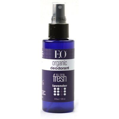 I also use this EO Organic Deodorant Spray either on top of the homemade deodorant or on its own. It can be sprayed throughout  the day if necessary.