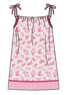 Pillowcase Tutorial Pdf: Super Simple Pillowcase Dress Nightgown  Tutorial PDF at  https    ,
