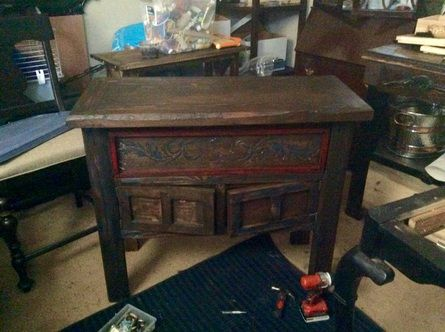 After: Rustic table built from found wood