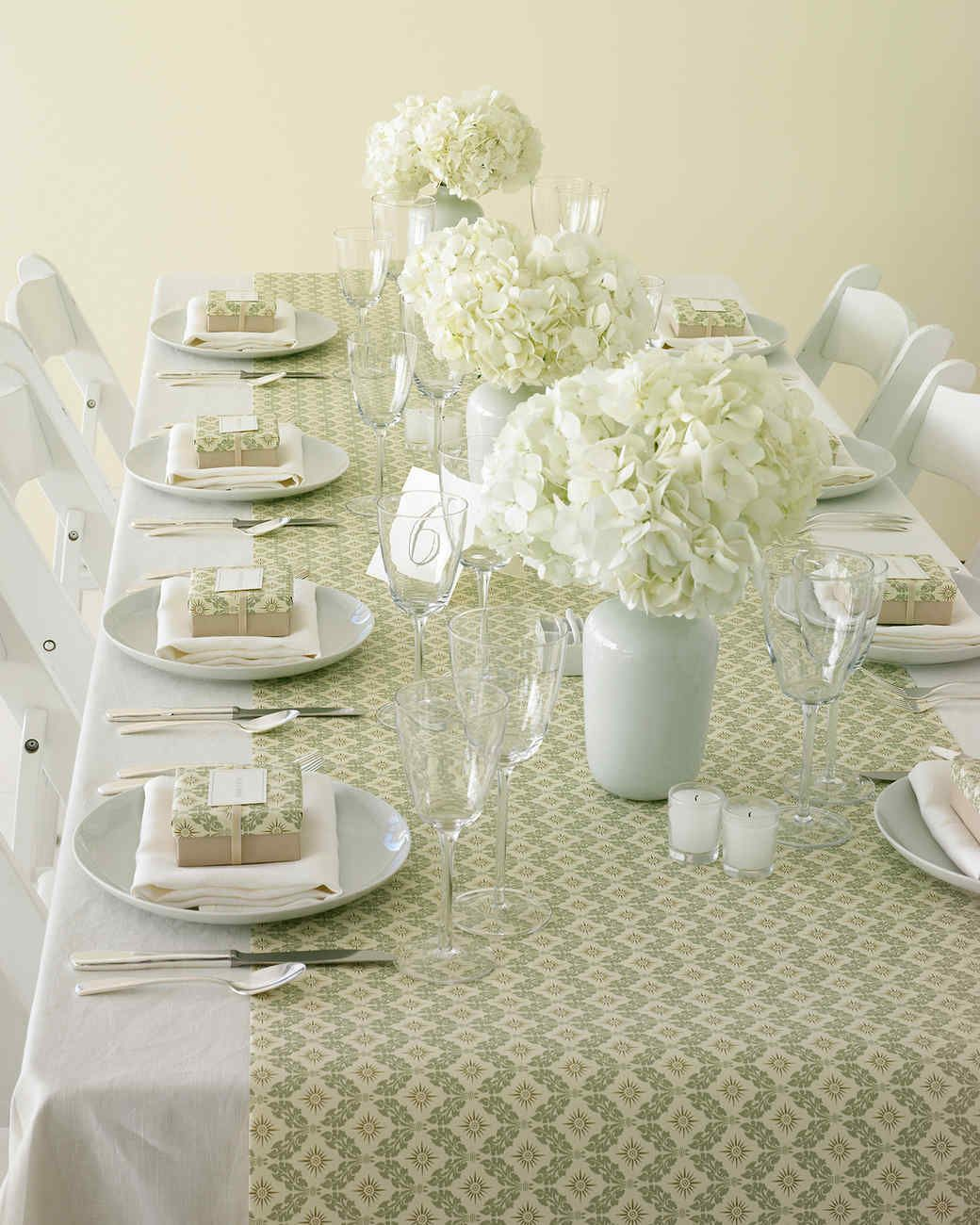 Wrapping Paper Table Runner Paper Table Reception And White