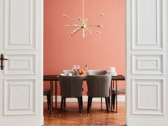 Inspiration joli place living coral pantone colour of the year interior also rh pinterest
