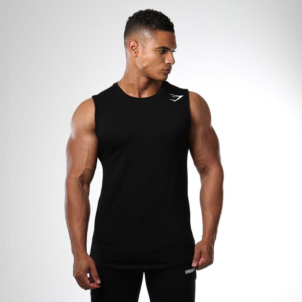 88546420494f4 Gymshark Ark Sleeveless T-Shirt - Black at Gymshark
