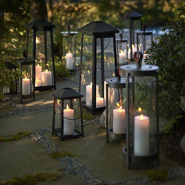 Petaluma Black Metal Lanterns Crate And Barrel Large Outdoor Lanterns Metal Lanterns Lanterns Decor