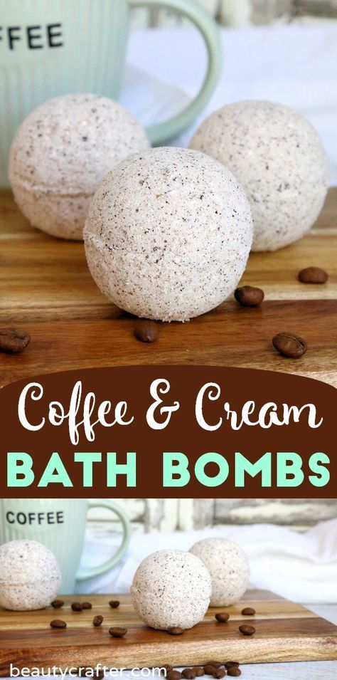 Coffee and Cream Bath Bombs - Beauty Crafter