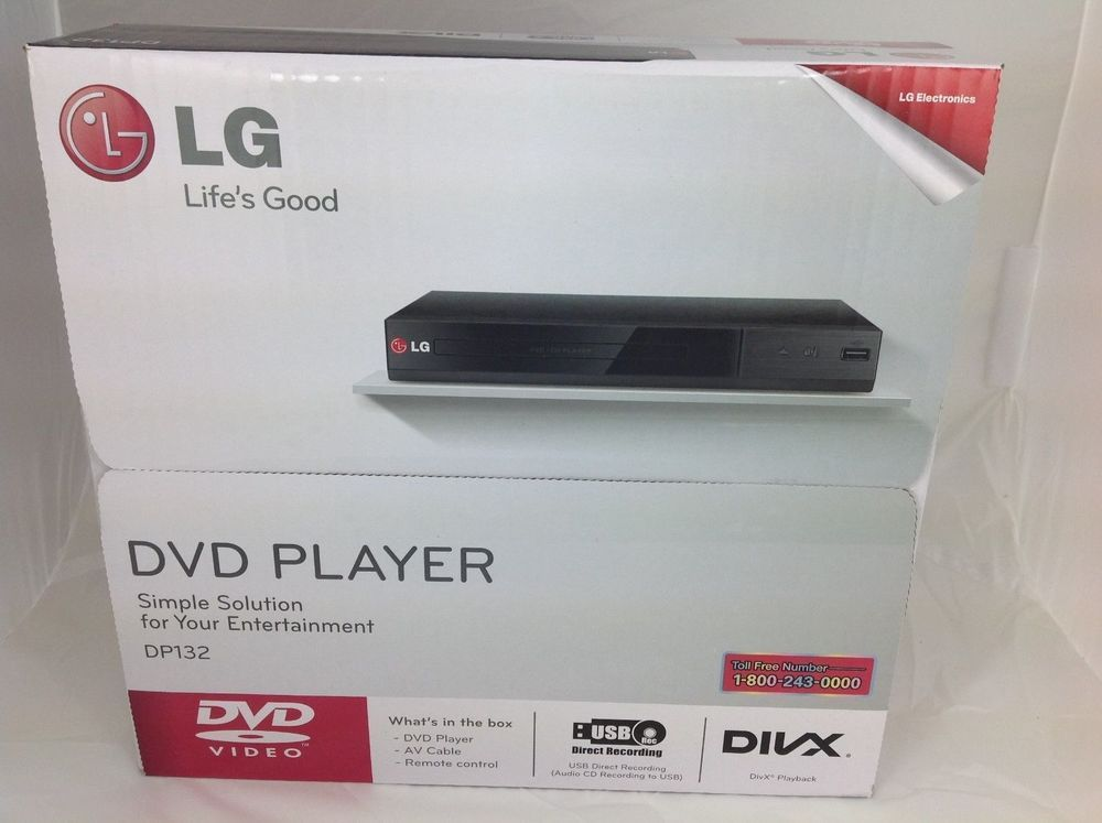 Brand New in Box LG DP132 DVD Player-tg1132-02 Mens Essentials, Brand New, Box, Snare Drum, Boxes