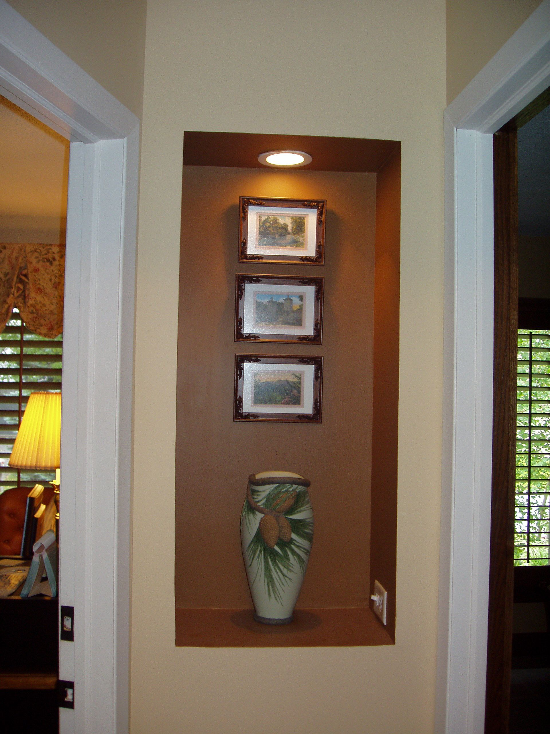 Rather than end the skinny hallway with no focal point an for End of hallway ideas